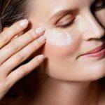 woman applying an anti-ageing eye cream